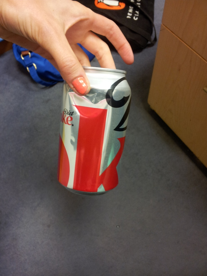 dented coke
