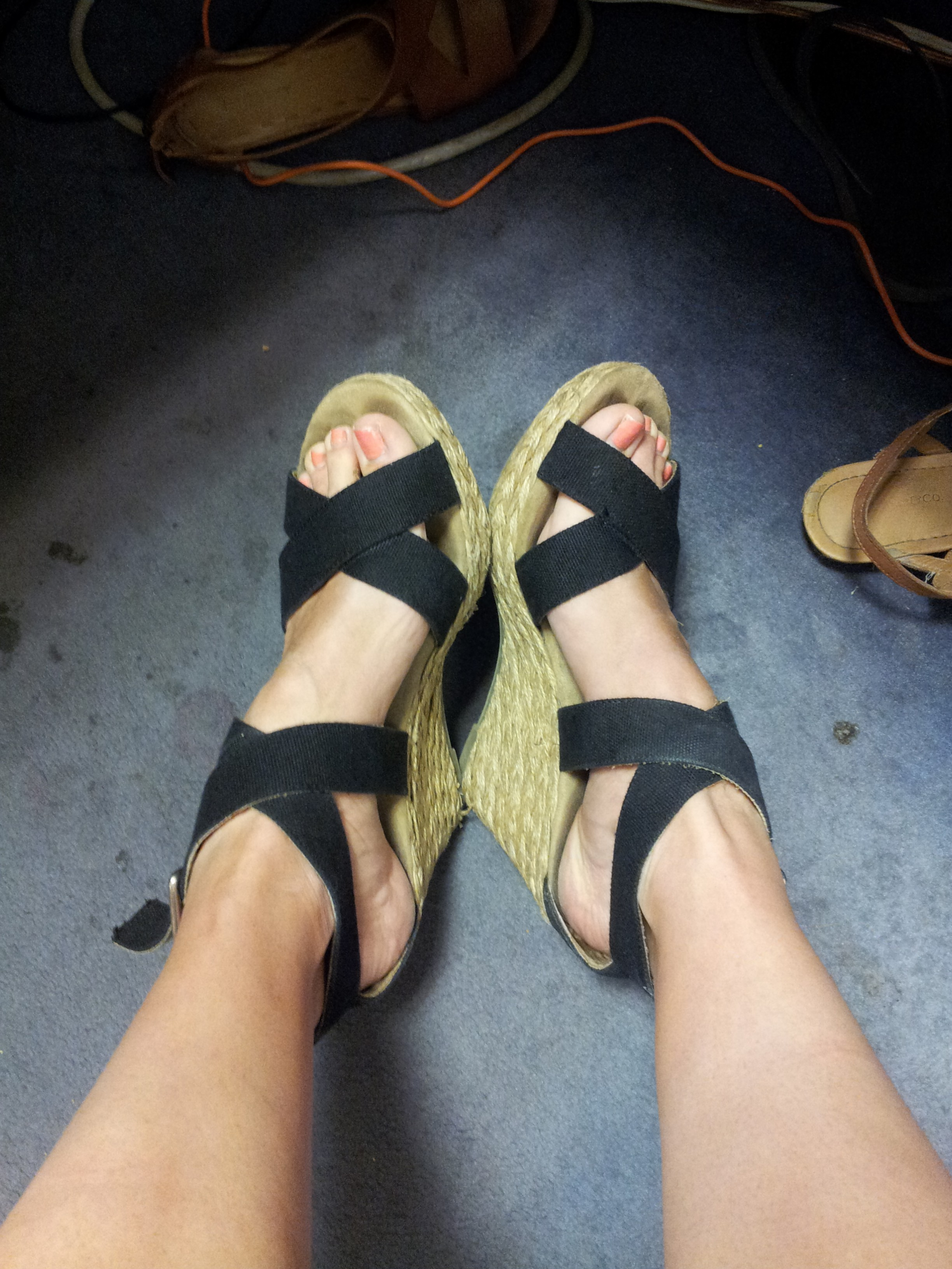 Candid wedges in post office - 2 2